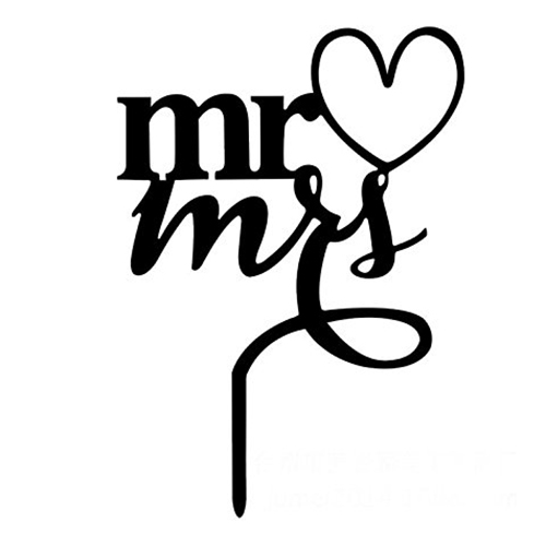 500x500 Mr Amp Mrs Bride And Groom Silhouette Wedding Cake Topper Pick