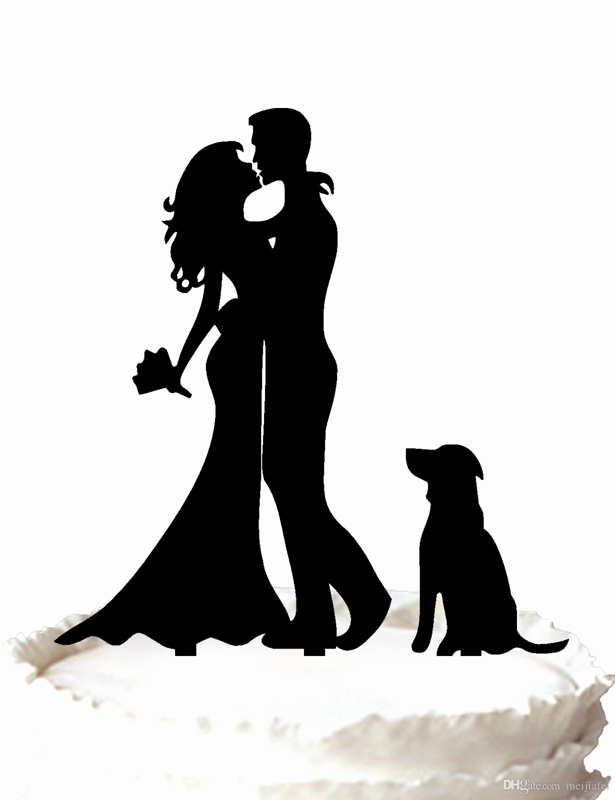 1230x1600 Silhouette Wedding Cake Topper Beautiful Cake Topper Wedding Cake
