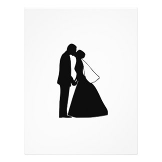 324x324 Vintage Bride And Groom Silhouette