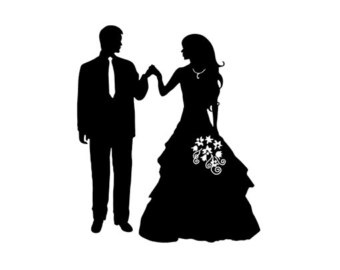 340x270 Wedding Couple Silhouette, Silhouettes, Graphics, Clip Art