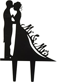 222x320 Wedding Cake Topper Silhouette Groom And Bride