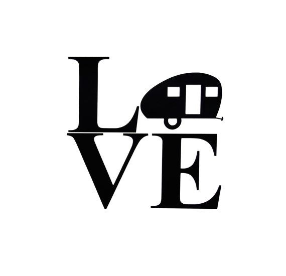 570x550 Teardrop Camper Silhouette Love Vinyl By Thechaoticmindstudio