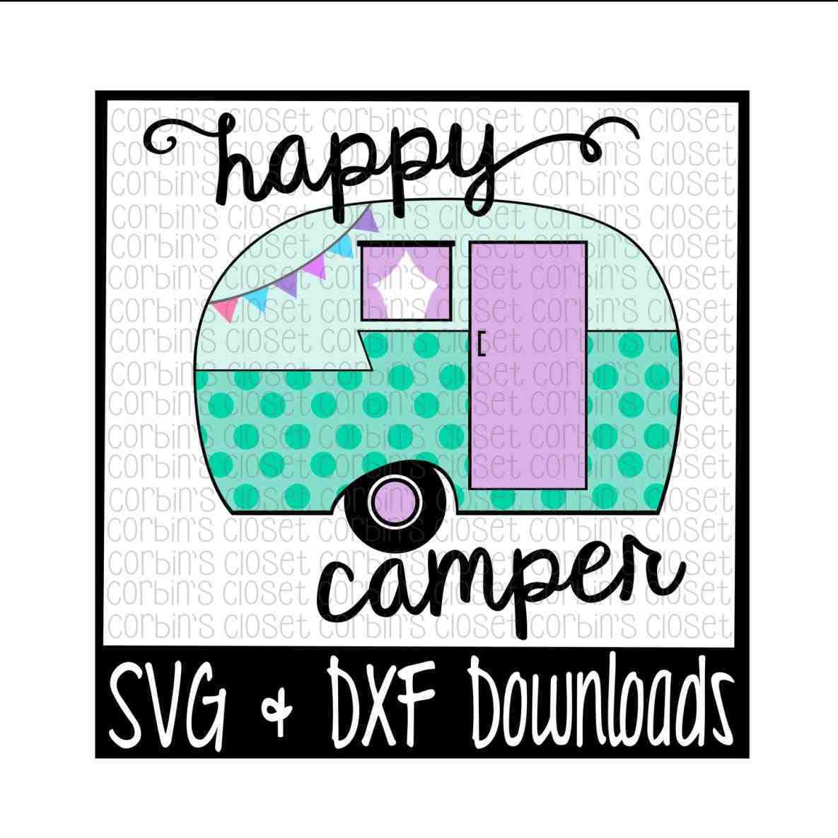 1185x1185 Clip Floral Vintage Camper Silhouette Digital Pillow