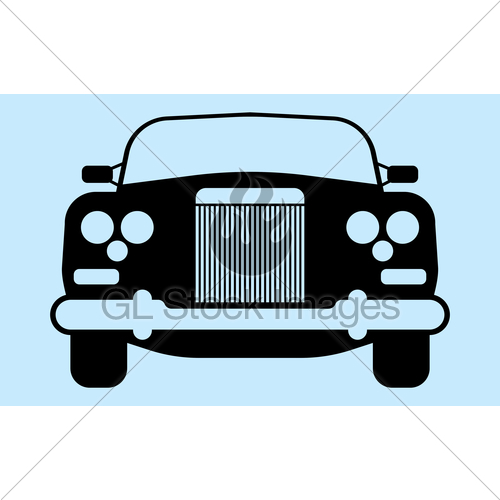 500x500 Car Silhouette Gl Stock Images