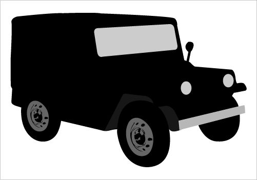 501x351 Old Jeep Silhouette Graphics Silhouette Graphics Silhouettes