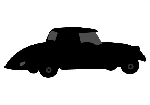 501x351 Vintage Classic Car Silhouette Graphics Silhouette Graphics