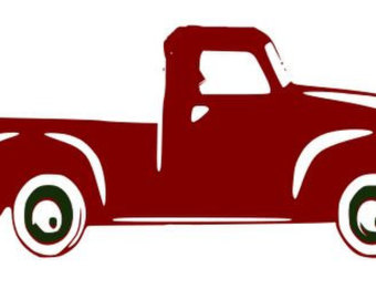 340x270 Vintage Christmas Truck Svg, Silhouette, Cricut, Vinyl, Digital