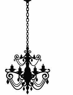 236x305 Chandelier Silhouette On Handpainted Wooden Board By Vinylcrafts