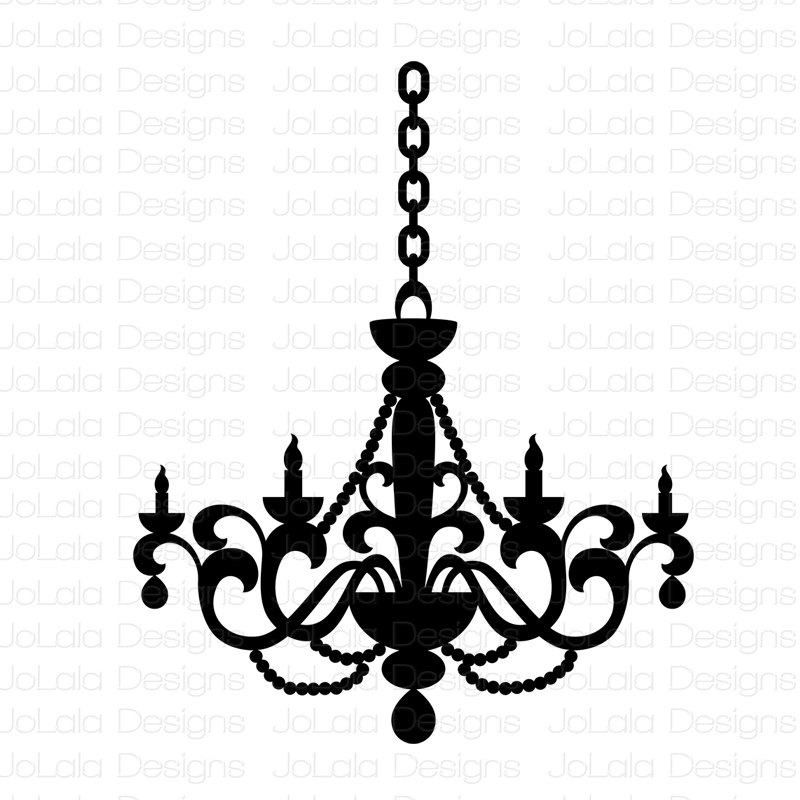 800x800 89 Simple Chandelier Clip Art