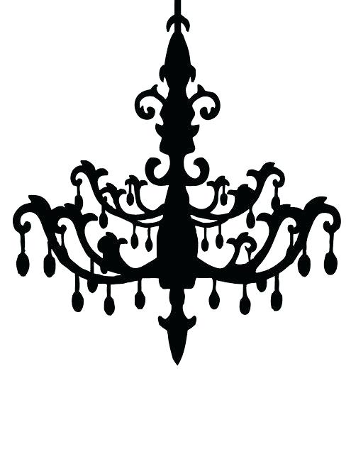 495x640 Simple Chandelier Silhouette Black Vintage Chandelier Silhouette