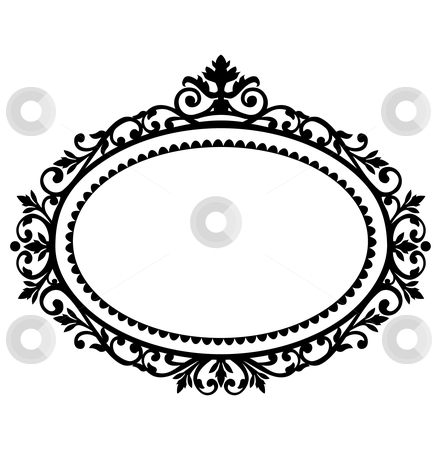 442x450 Antique Oval Frame Clipart