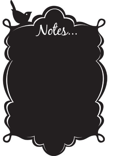 362x500 Vintage Notes Vinyl Chalkboard Silhouette Trace Tagslabels