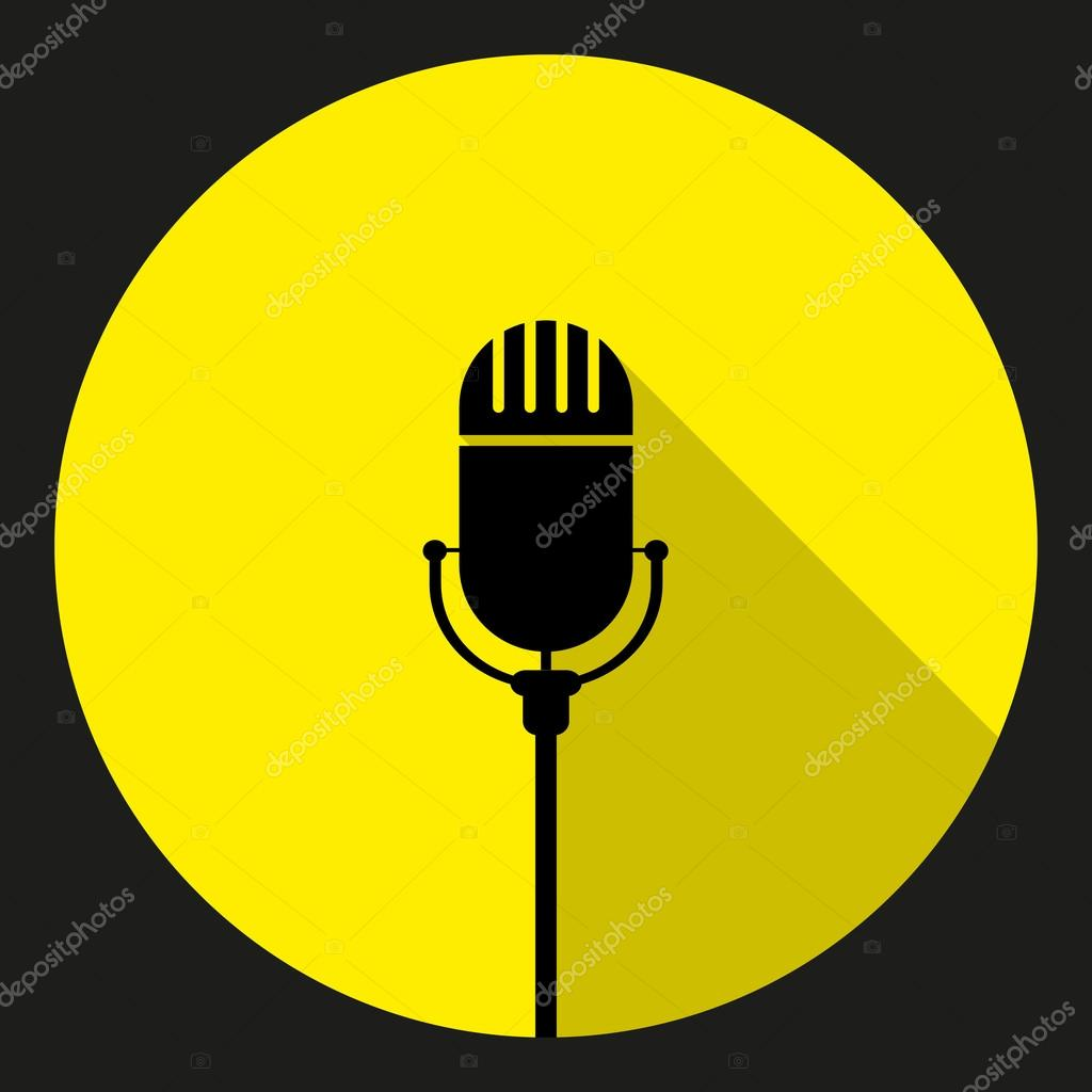 1024x1024 Vintage Mic Silhouette Clipart Of Black