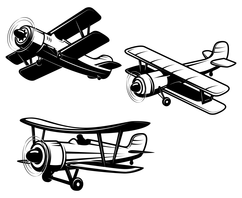 Vintage Plane Silhouette at GetDrawings   Free download