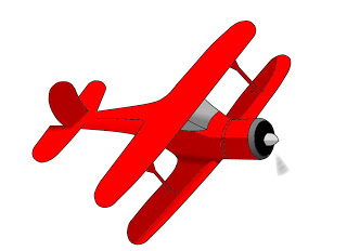 320x232 Airplane Clipart Vintage Red