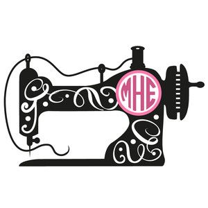 Vintage Sewing Machine Silhouette