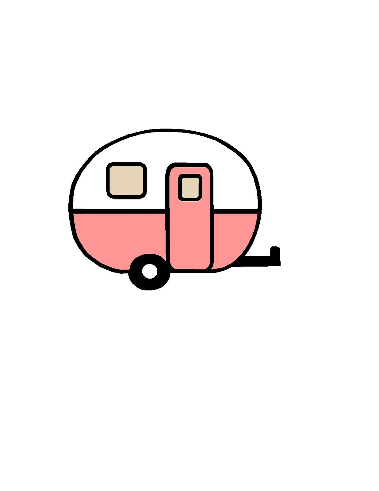 1236x1600 Closet Crafter Free Vintage Camper Silhouette Design File
