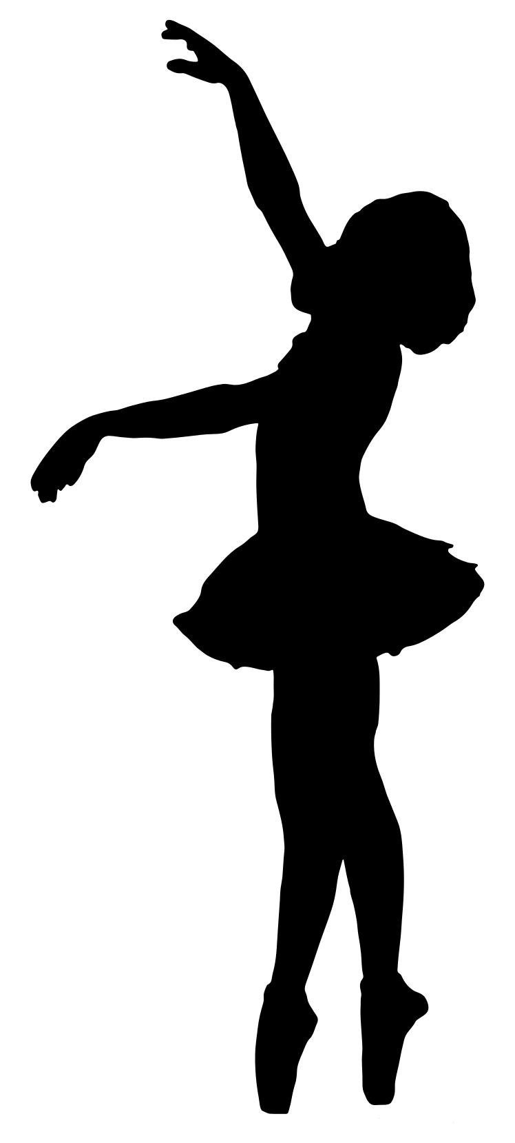 748x1658 Vintage Ballerina Silhouette Clipart