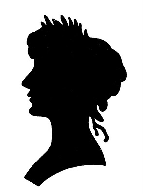 295x400 Vintage Graphic Images Silhouette Lady With Floral Frame