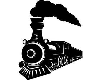 Vintage Train Silhouette