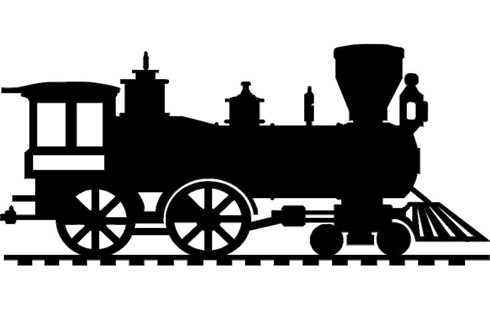 1002x633 Locomotive Dxf File Free Download
