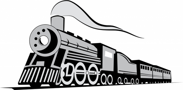 600x297 Train Silhouette Free Vector Download (5,604 Free Vector)