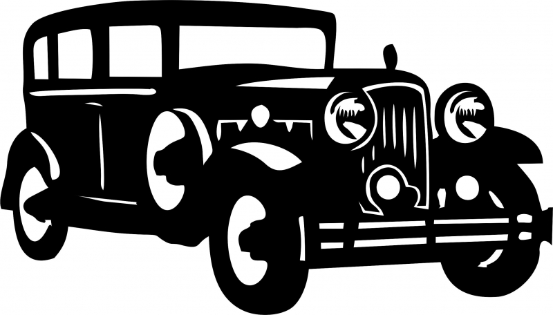 800x456 Antique Vintage 1930's Sedan Silhouette Laser Cut Appliques