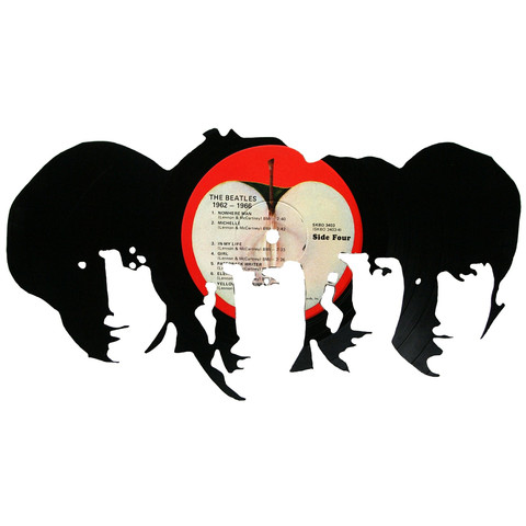 480x480 Beatles Silhouette Vinyl Record Art