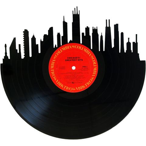 480x480 Chicago Skyline Vinyl Record Art Vinyl Record Art, Record Art
