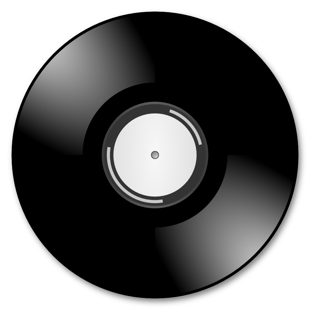 vinyl record silhouette at getdrawings com free for personal use