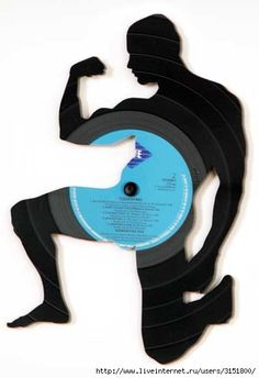 236x344 Vinyl Record Hair Girl Wall Art By Blackberryhilldesign On Etsy