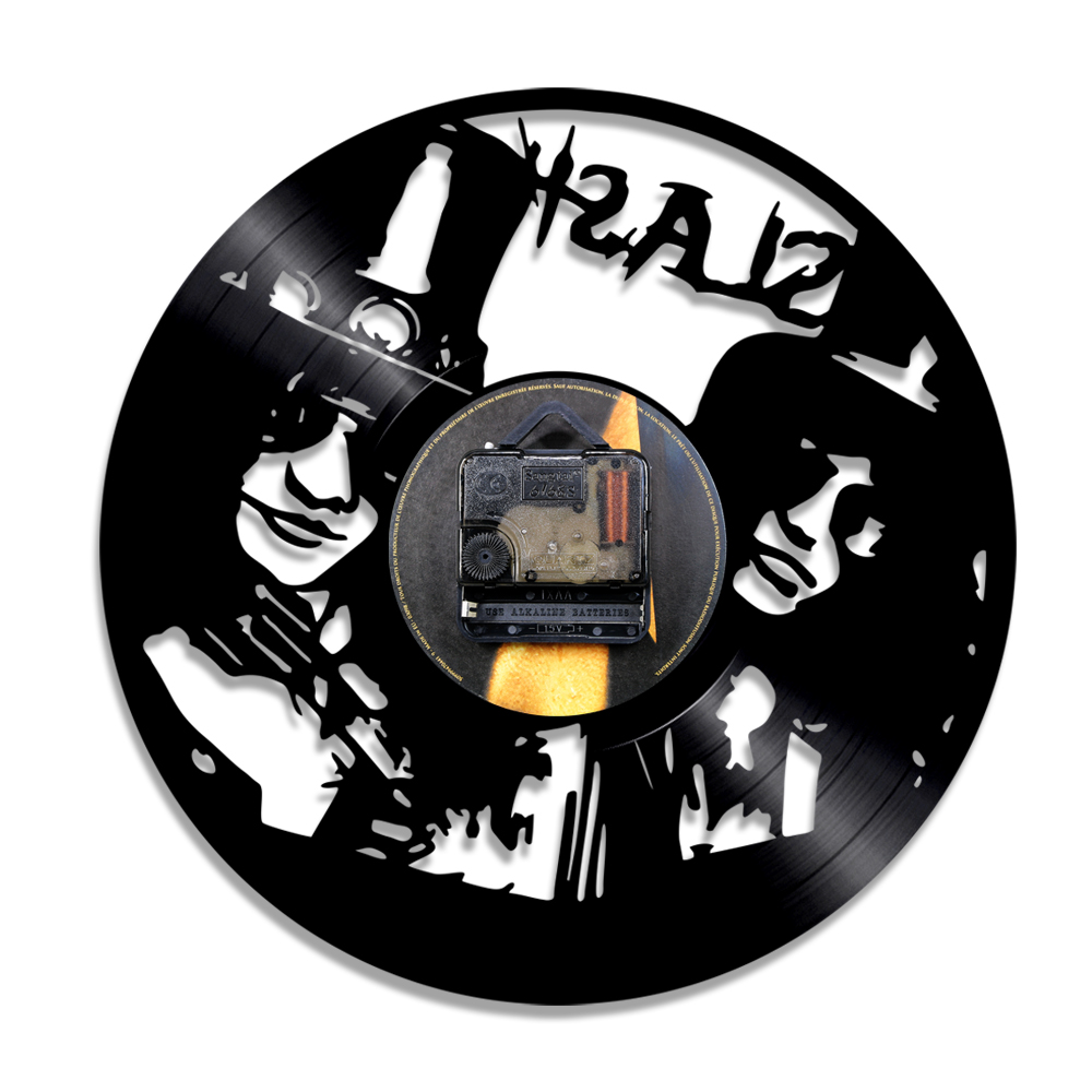 1000x1000 1piece Slash Musician Led Silhouette Backlight Light Vinyl Clock