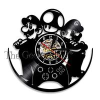 200x200 1piece Super Mario Led Silhouette Game Vinyl Record Wall Clock