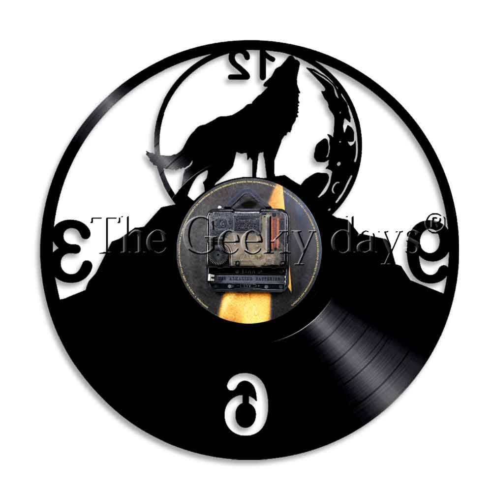 1000x1000 1piece Wolf Howling Silhouette Led Night Lamp Vinyl Record Night