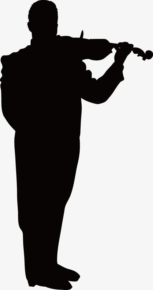650x1229 Play The Violin, Music Silhouette Figures, Sketch, Character Png
