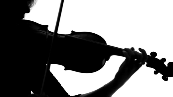 590x332 Silhouette Of Violinist Playing On Her By Lovevision Videohive