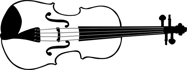 600x227 Violin Silhouette Tatoo Getting Crafty Silhouettes