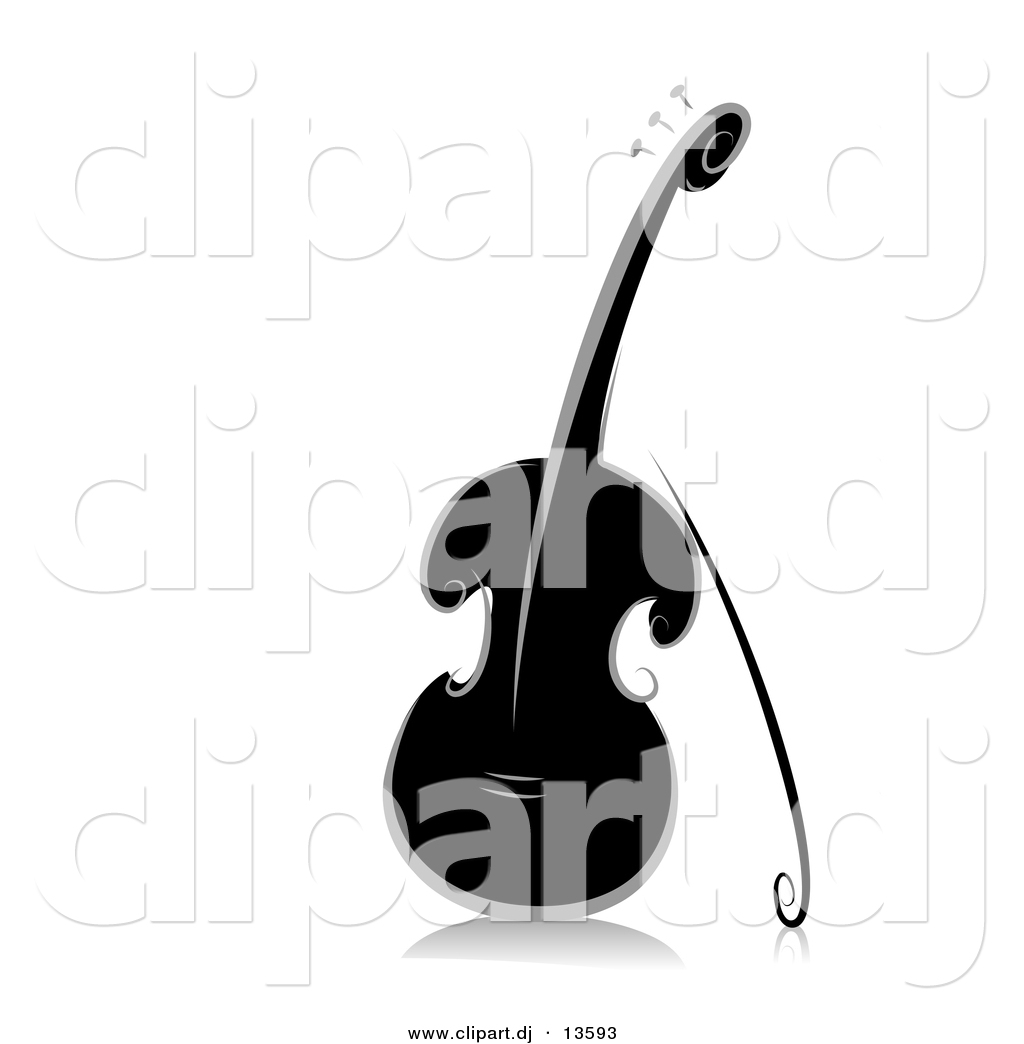 1024x1044 Vector Clipart Of An Ornate Violin
