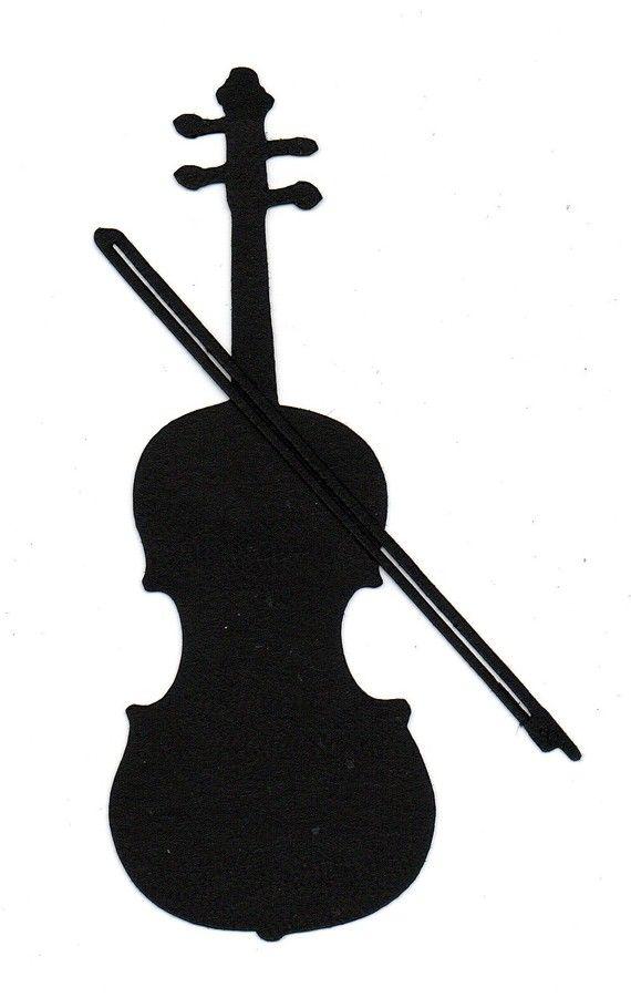 Violinist Silhouette