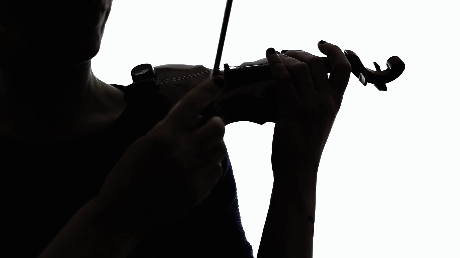 1920x1080 Silhouette Violin Woman Play Ms. The Silhouette Of A Woman Playing
