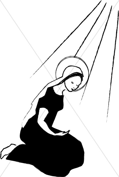 413x612 Mary Learns That She Will Bear A Child Virgin Mary Clipart