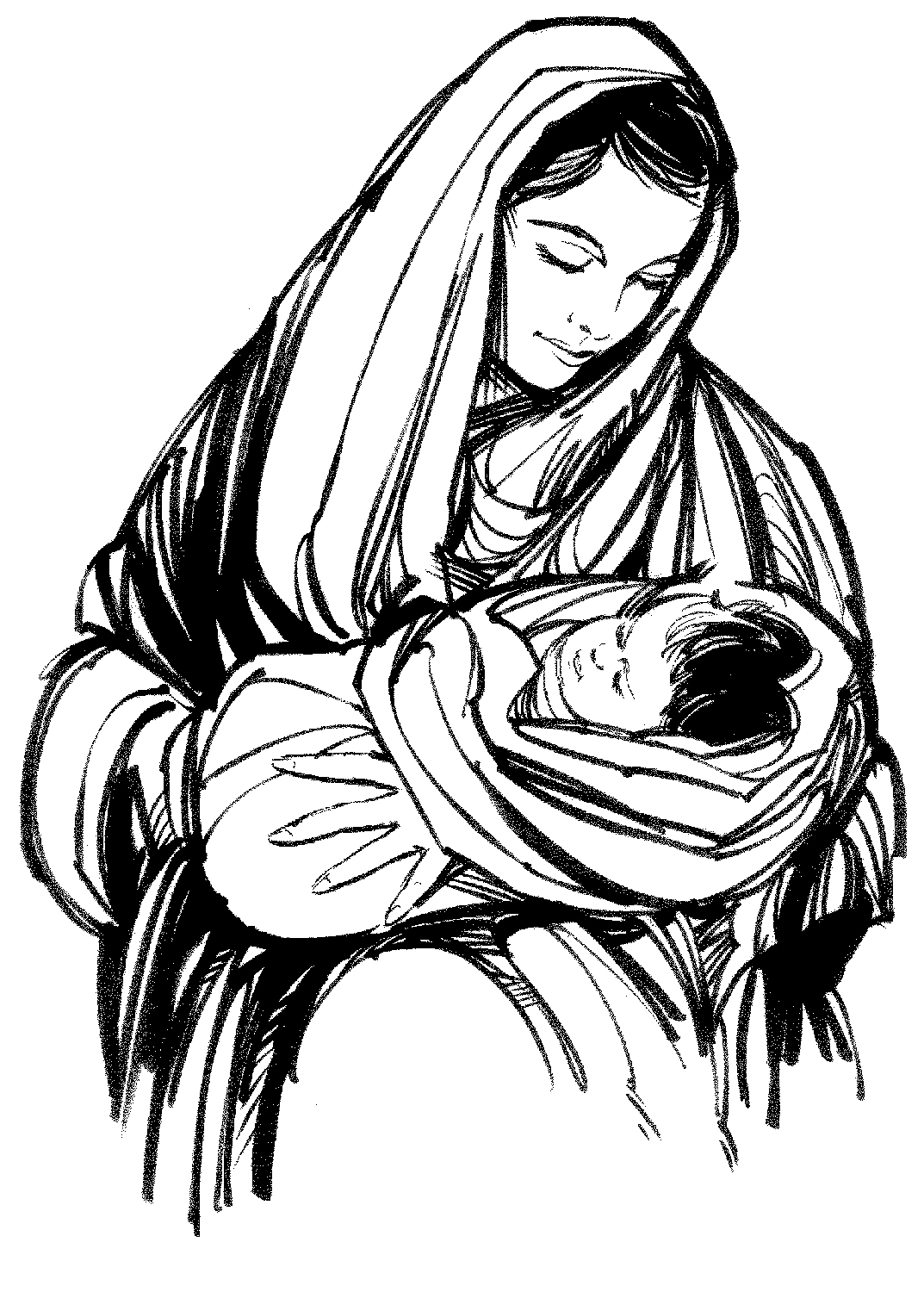 1073x1500 Virgin Mary Carrying Baby Jesus Jesus Clipart, Explore Pictures