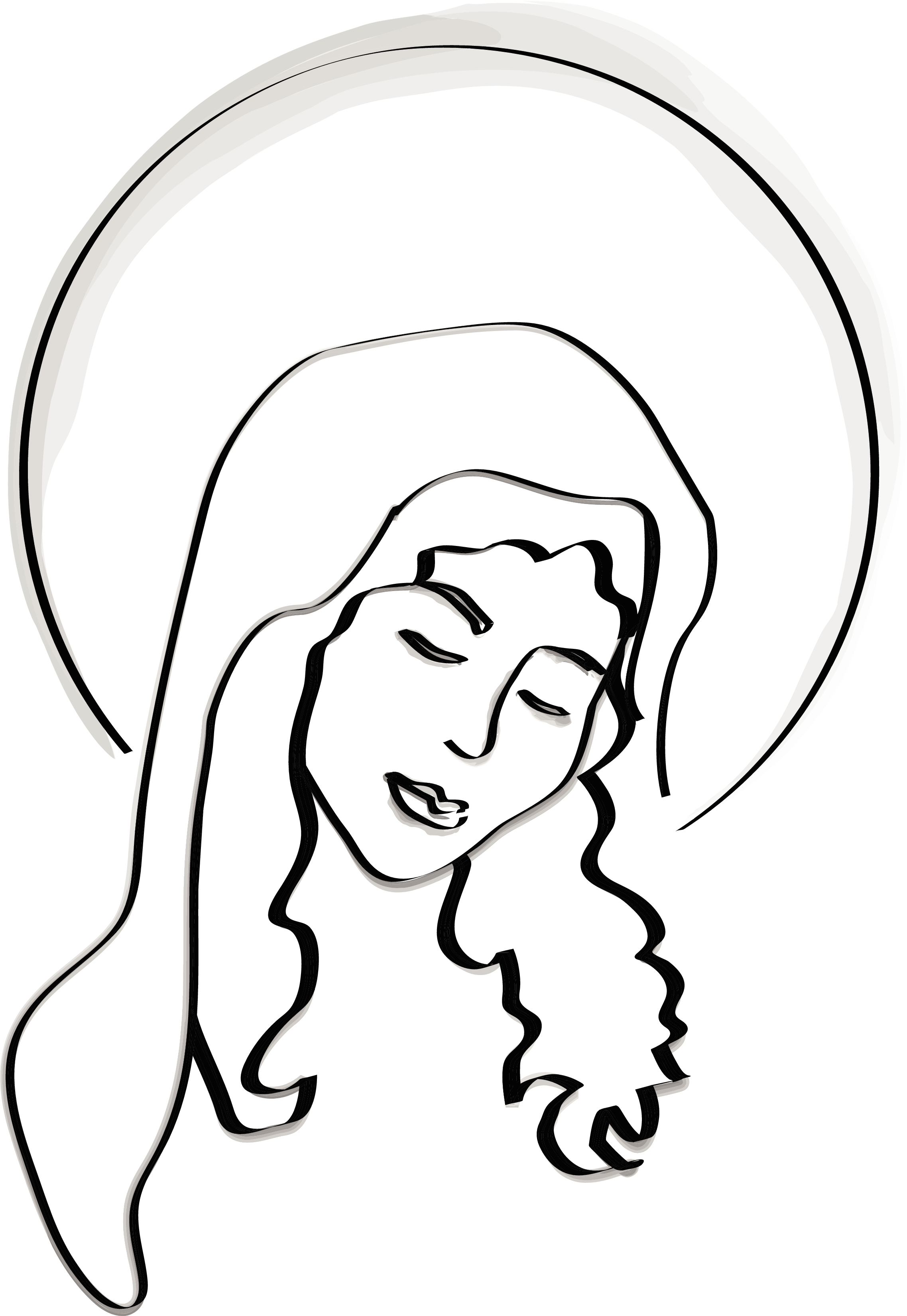 2275x3300 Blessed Virgin Mary Clip Art