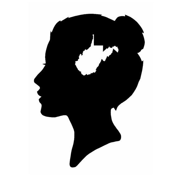 570x570 A West Virginia State Of Mind Silhouette Print By Astateofmind