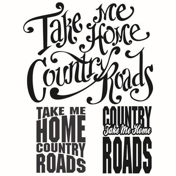 600x600 Take Me Home West Virginia Country Roads Cuttable Design Svg, Dxf