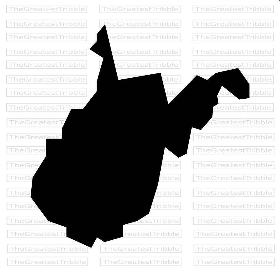 948x918 West Virginia State Map Eps Svg Png Jpg Vector Graphic Clip Art