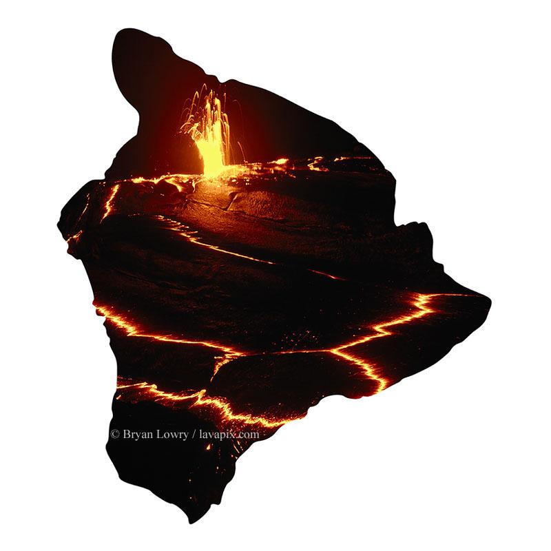 800x800 459hi Hawaii Map Hawaii Volcano Stock Photography