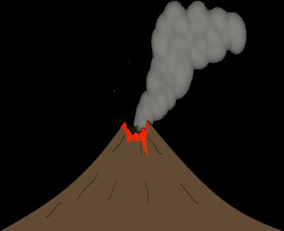 400x326 Volcano Clip Art