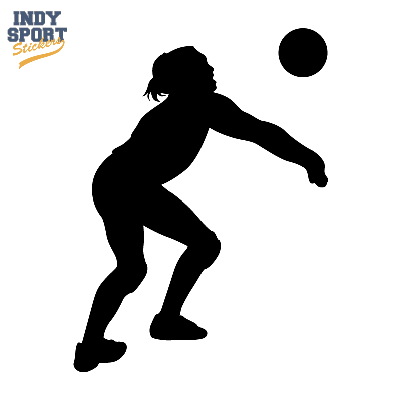 Volleyball Girl Silhouette at GetDrawings | Free download