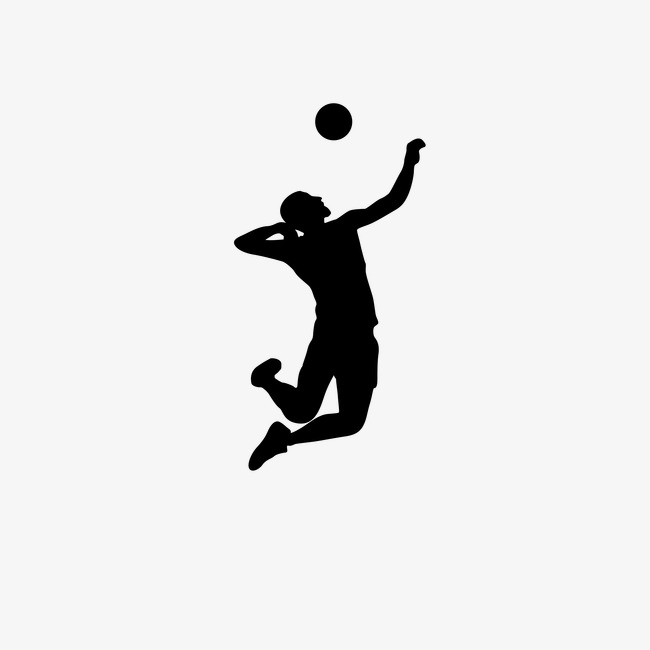 650x650 Women's Volleyball Silhouette Figures Vector, Sports, Sketch